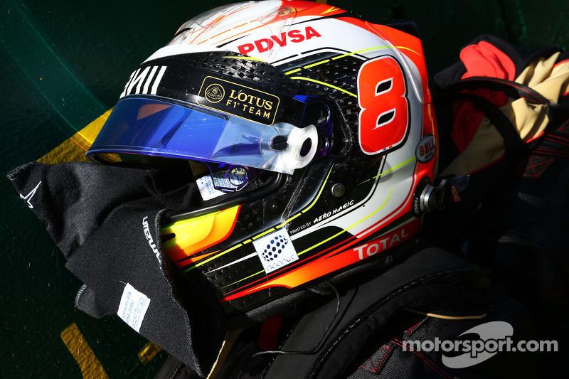 Helm Romain Grosjean, Lotus F1 Team di grid