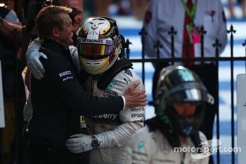 Lewis Hamilton, Mercedes AMG F1, und Nico Rosberg, Mercedes AMG F1 W06, 15.03.2015, Formel-1-Weltmei