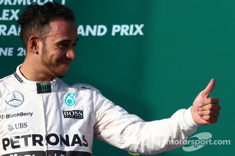 الفائز بالسباق، لويس هاميلتون، مرسيدس إيه أم جي للفورمولا واحد