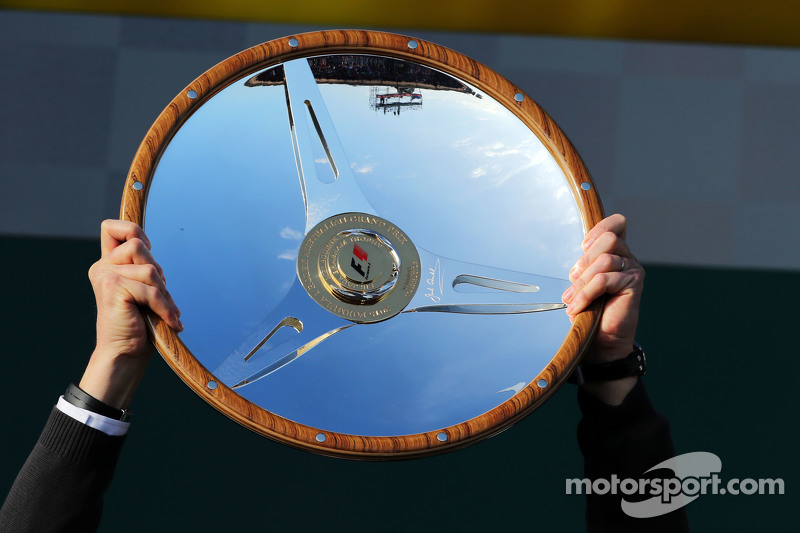 Mercedes AMG F1 winners' trophy