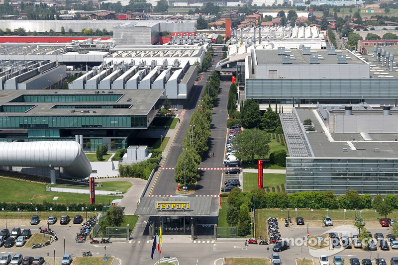 Overview of the Ferrari factory