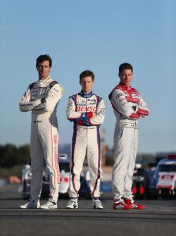 Mark Webber, Porsche Team, Anthony Davidson, Toyota Racing, Loic Duval, Audi Sport Team Joest