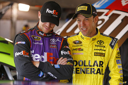 Denny Hamlin, Joe Gibbs Racing, Toyota, und Matt Kenseth, Joe Gibbs Racing, Toyota