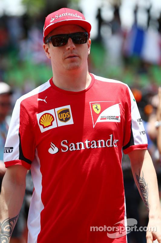 Kimi Raikkonen, Ferrari di drivers parade