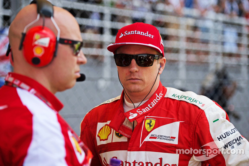 Kimi Raikkonen, Ferrari di grid