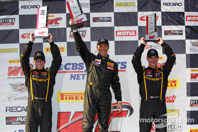 Podium: 2. Andrew Aquilante, 1. Spencer Pumpelly und 3. Kurt Rezzetano