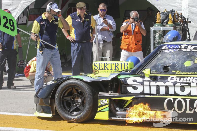 Мауро Галломбардо, Maquin Parts Racing Ford Tyre change testing та backfire