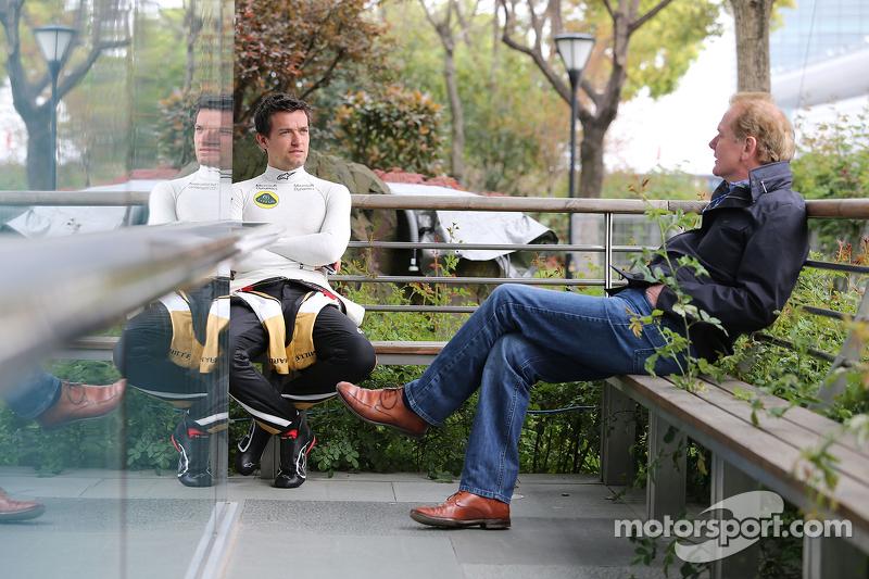 Jolyon Palmer, Lotus F1 Team, und sein Vater Johnathan