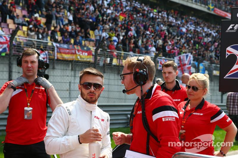 Will Stevens, Manor F1 Team, in der Startaufstellung