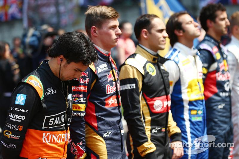 Sergio Perez, Sahara Force India F1, in der Startaufstellung