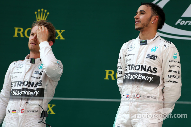 Lewis Hamilton, Mercedes AMG F1 Team and Nico Rosberg, Mercedes AMG F1 Team