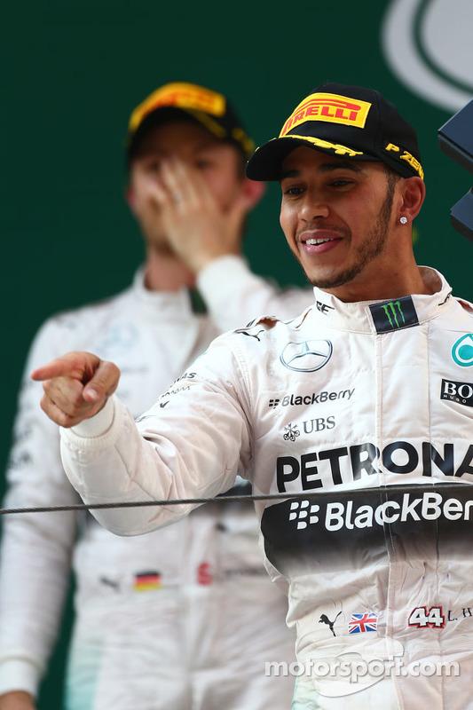 1. Lewis Hamilton, Mercedes AMG F1, 2. Nico Rosberg, Mercedes AMG F1 W06