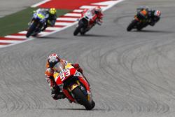Marc Marquez, Repsol Honda Team; Valentino Rossi, Yamaha Factory Racing, und Bradley Smith, Yamaha Tech 3