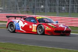 #81 AF Corse Ferrari F458 Italia: Stephen Wyatt, Michele Rugolo, Руї Агуас