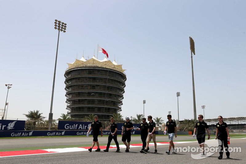 Romain Grosjean, Lotus F1 Team, und Jolyon Palmer, Lotus F1 Team