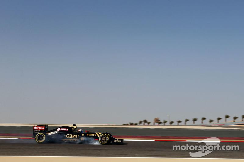 Romain Grosjean, Lotus F1 E23, mit Verbremser