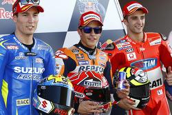 Володар поулу Марк Маркес, Repsol Honda Team, друге місце Алеїч Еспаргаро, Team Suzuki MotoGP, третє місце Андреа Янноне, Ducati Team