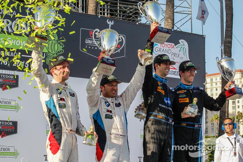 #25 BMW Team RLL, BMW Z4 GTE: Bill Auberlen, Dirk Werner und #10 Wayne Taylor Racing, Corvette DP: R