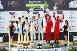 GTLM-Podium: 3. #3 Corvette Racing, Chevrolet Corvette C7.R: Jan Magnussen, Antonio Garcia; 1. #25 B