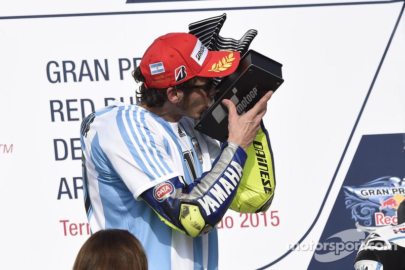 Podium: winner Valentino Rossi, Yamaha Factory Racing