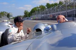 Льюис Хэмилтон, Mercedes F1 и сэр Стирлинг Мосс в Монце