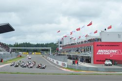 Старт гонки WSBK на Moscow Raceway