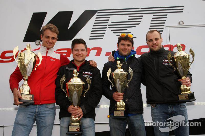 2. Pierre Kaffer und Laurens Vanthoor; 1. Christopher Mies und Nico Müller, Audi Sport Team WRT