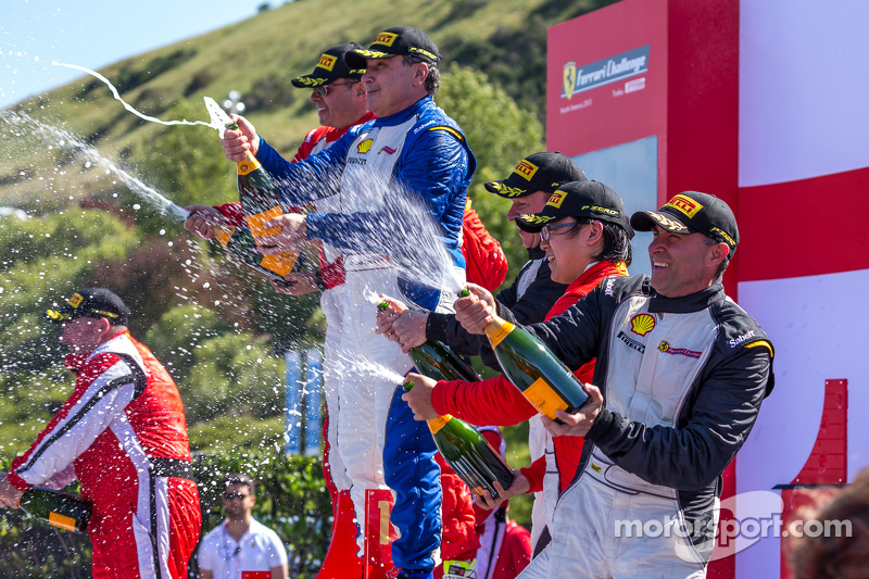 Podium Champagne celebration