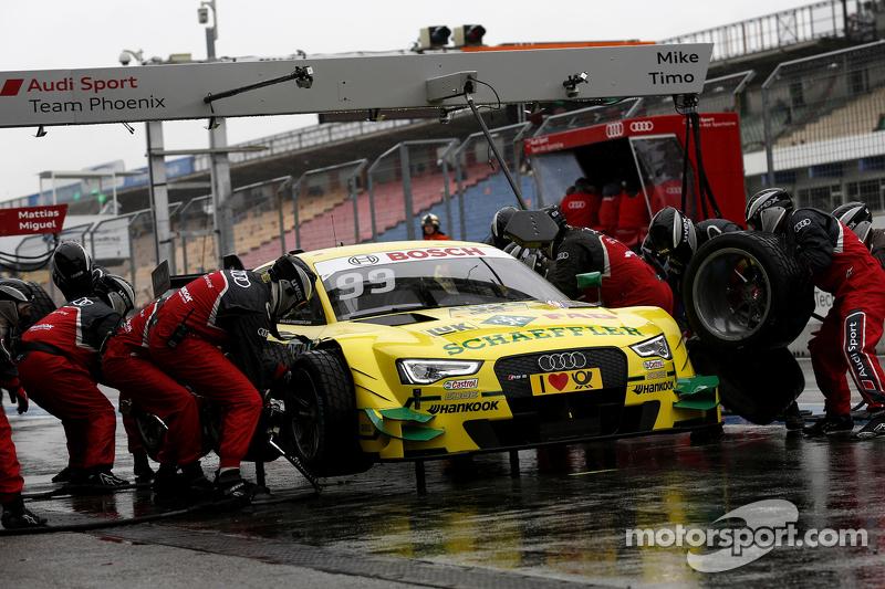 Mike Rockenfeller进站,菲尼克斯奥迪赛车队,奥迪 RS 5 DTM