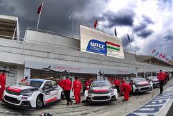 José María López, Yvan Muller, Sébastien Loeb, Ma Qing Hua, Citroën World Touring Car Equipo C-Elysée