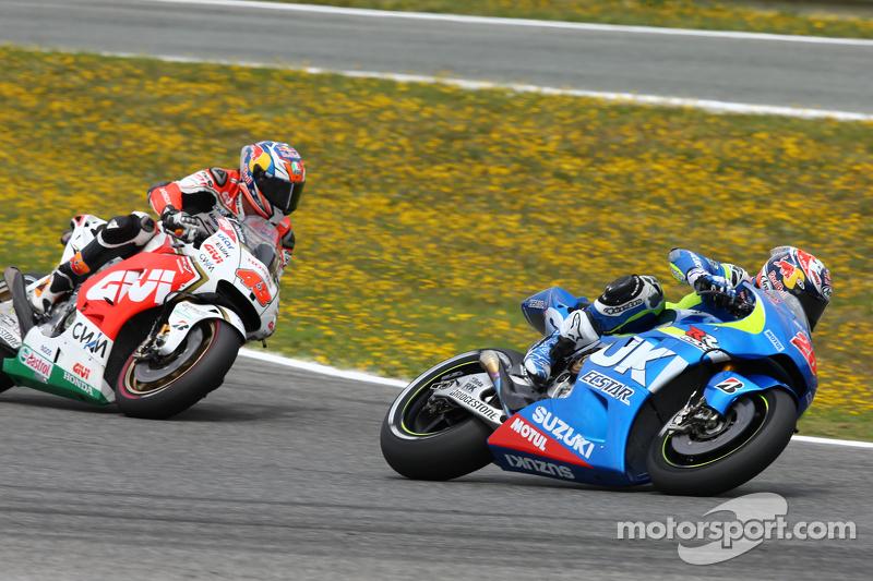 Maverick Viñales, Team Suzuki MotoGP, und Jack Miller, Team LCR, Honda