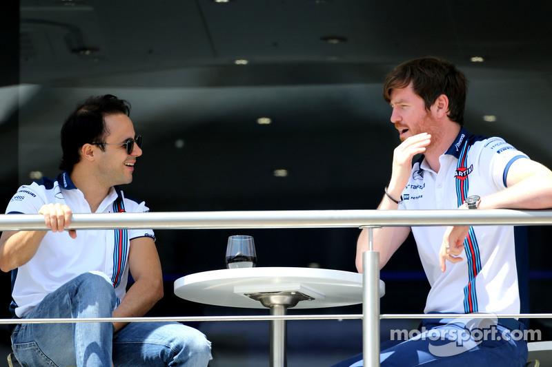 Felipe Massa, Williams F1 Team, und Rob Smedley, Chefingenieur Williams F1 Team