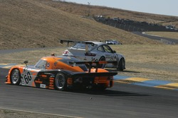 #81 Comfort Systems/ Synergy Racing Porsche GT3 Cup: Steve Johnson, Robert Nearn out in the dirt