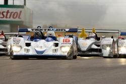 #16 Dyson Racing Team Lola B06/10 AER: James Weaver, Butch Leitzinger;#2 Audi Sport North America Audi R10: Rinaldo Capello, Allan McNish