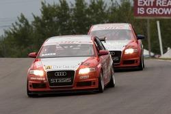Freddy Baker (#18 Audi A4);Jeff Courtney (#99 Audi A4)