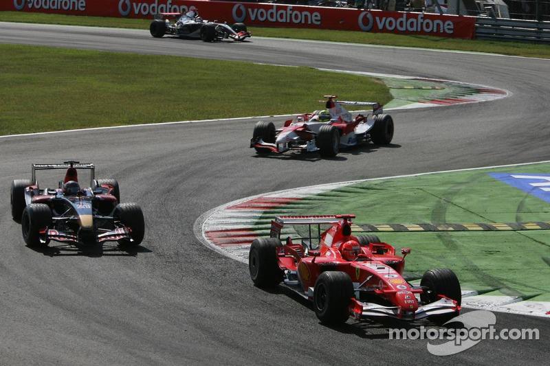 Michael Schumacher, Scott Speed und Ralf Schumacher