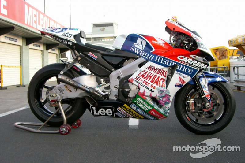 The Honda LCR bike of Casey Stoner at Australian GP