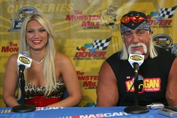Brooke Hogan and her father Hulk Hogan respond to questions from the media during a press confrence