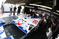 Dyson Racing Team paddock area