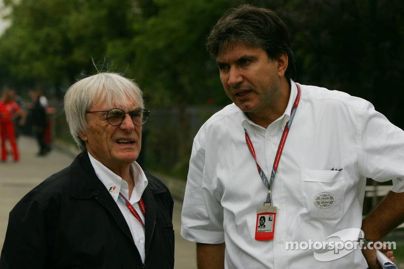 Bernie Ecclestone y Pasquale Lattuneddu