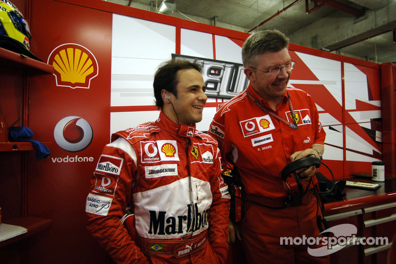 Felipe Massa y Ross Brawn