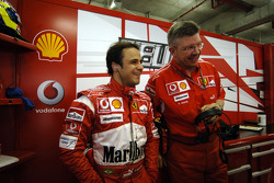 Felipe Massa and Ross Brawn