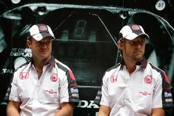 Lucky Strike PR day: Rubens Barrichello and Jenson Button