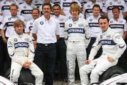 BMW Sauber F1 Team photo: Dr. Mario Theissen, Nick Heidfeld, Sebastian Vettel and Robert Kubica