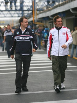 Robert Kubica and Franck Montagny