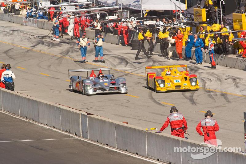 Audi en lutte avec Porsche à la sortie des stands