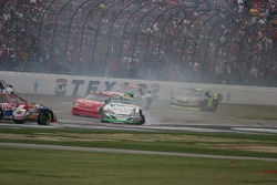 Sterling Marlin slides across the front straight