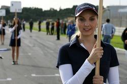 Starting grid: BRAVO Lucky Draw winner Maren Heidler as the grid girl for Christian Vietoris