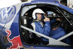 Volkswagen Motorsport test at Strandkai Beach Resort, Hamburg: Taxi drive with Mark Keller