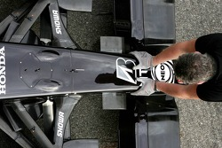 The nose of Rubens Barrichello, Honda Racing F1 Team, with a Bridgestone logo